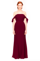 Bari Jay Bridesmaid Dress 1974 - Wine