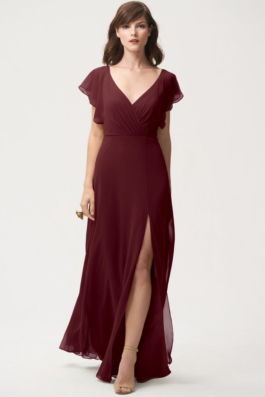 Jenny Yoo Long Bridesmaid Dress Alanna front