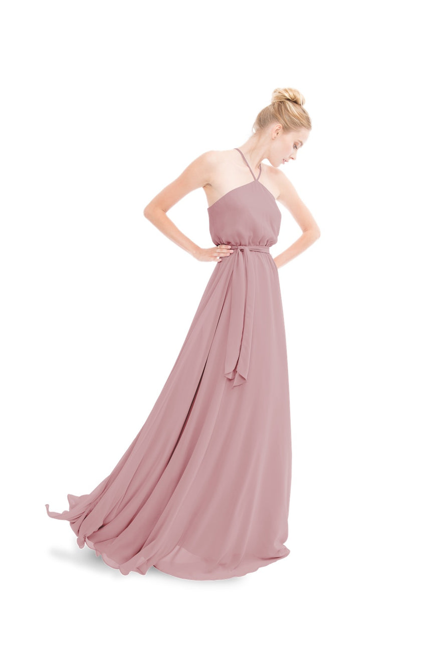 Dusty Rose Joanna August Long Bridesmaid Dress Allison