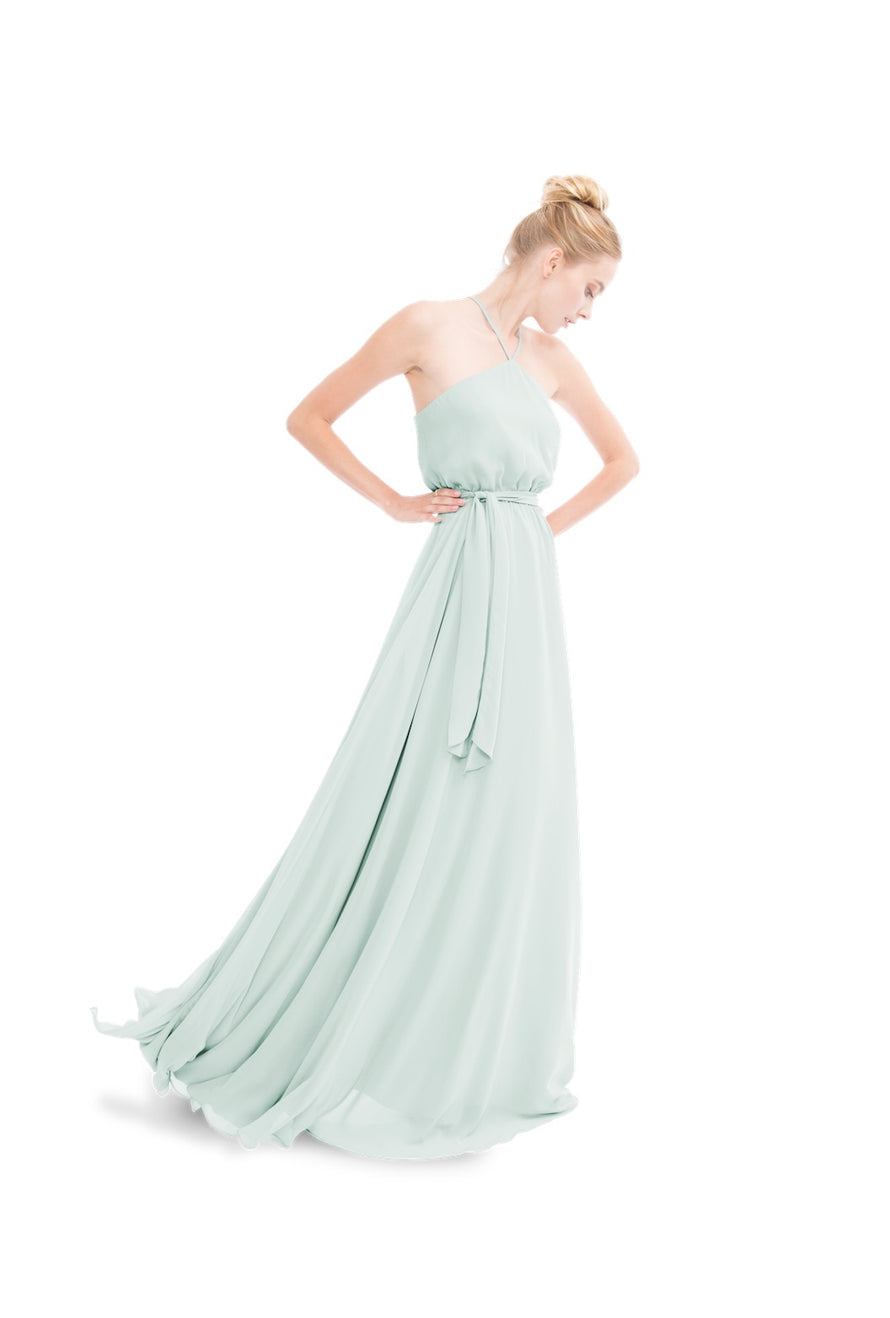 Sage Joanna August Long Bridesmaid Dress Allison