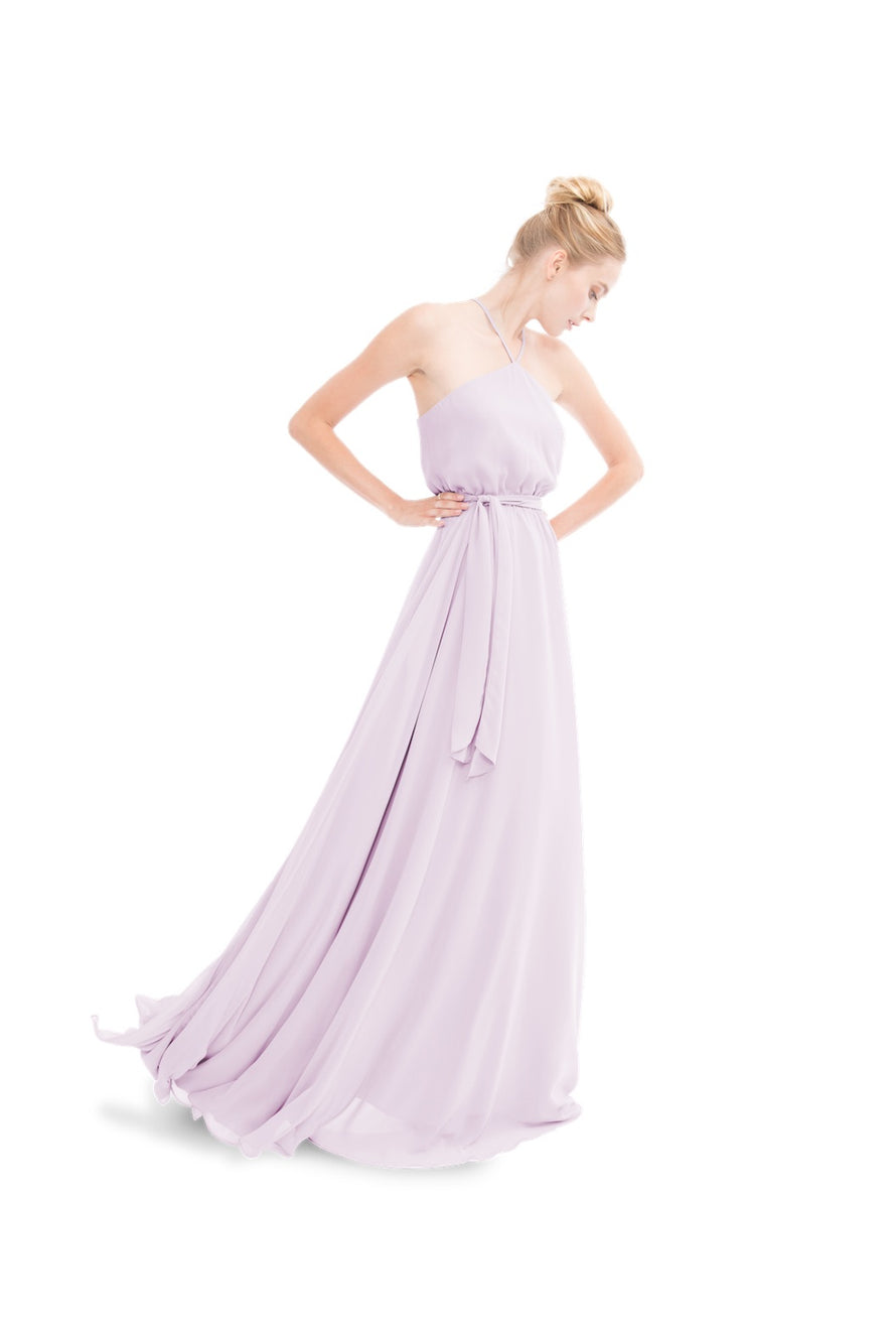Lavender Joanna August Long Bridesmaid Dress Allison