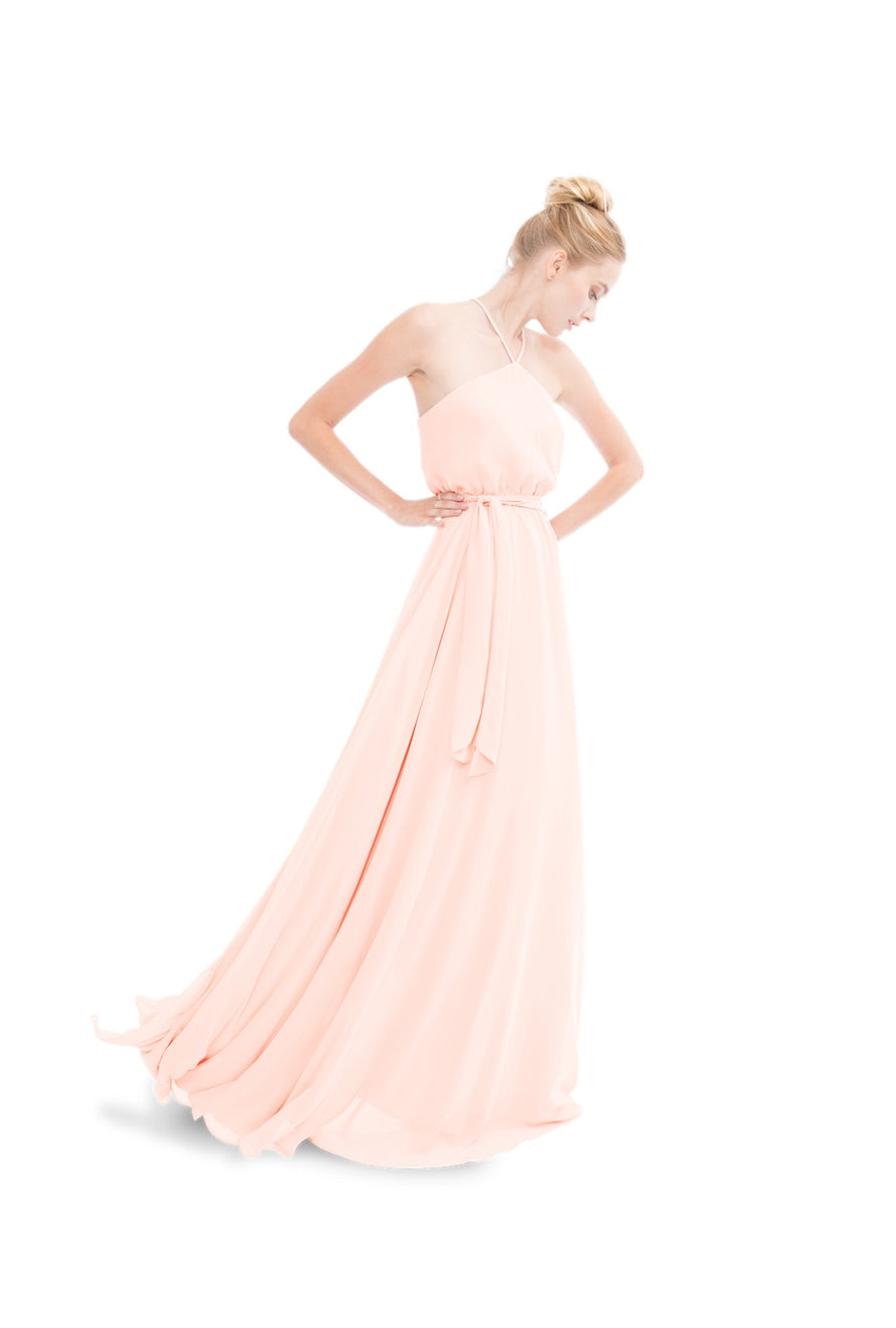 Joanna August Long Bridesmaid Dress Allison Chiffon