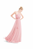Pink Joanna August Long Bridesmaid Dress Allison