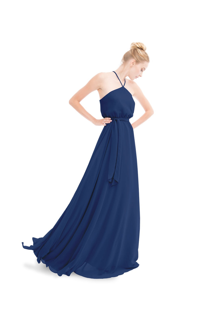 Navy Blue Joanna August Long Bridesmaid Dress Allison
