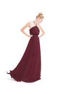 Burgundy Joanna August Long Bridesmaid Dress Allison