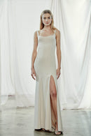 Amsale Long Bridesmaid Dress Kenna Crepe