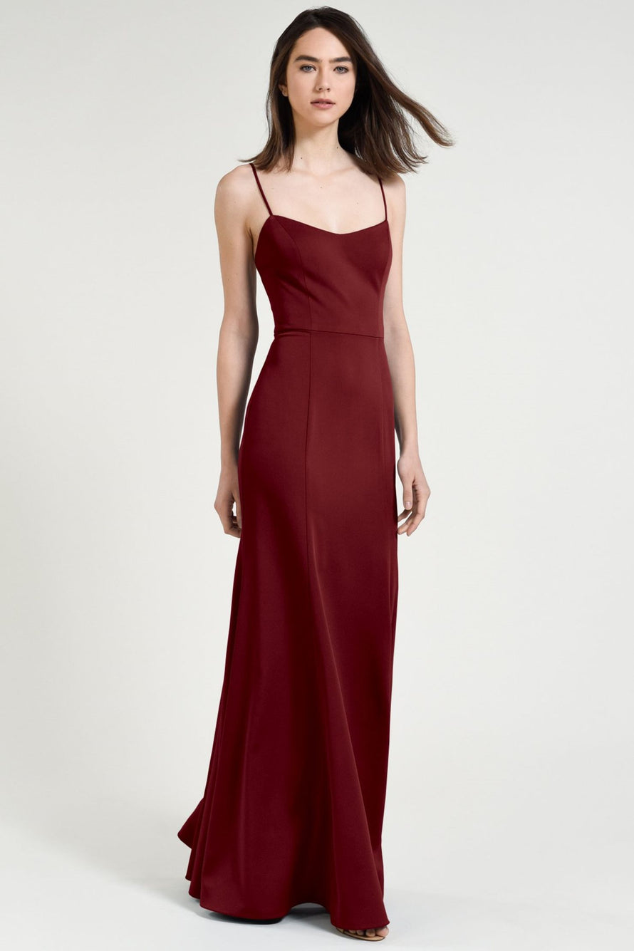 Jenny Yoo Bridesmaid Dress Aniston cranberry