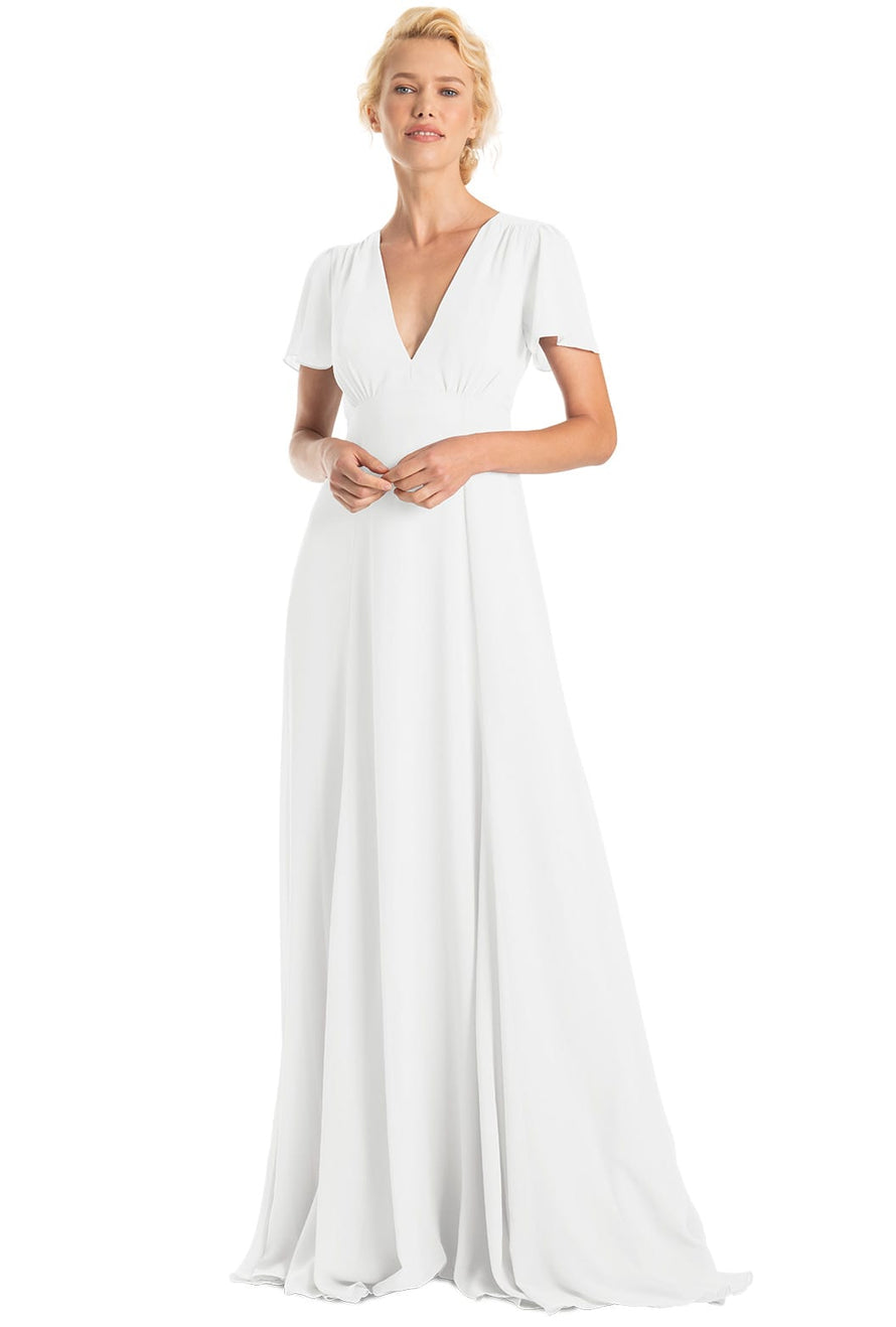 Joanna August Bridesmaid Long Dress Alice-White Wedding