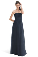 Joanna August Long Bridesmaid Dress Brenda Navy