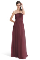 Joanna August Long Bridesmaid Dress Brenda Cinnamon Rose