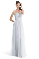 Joanna August Long Bridesmaid Dress Brenda whisper Blue