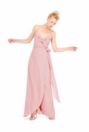 Joanna August Long Bridesmaid Dress Brianna Dusty Rose