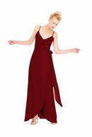 Joanna August Long Bridesmaid Dress Brianna Merlot