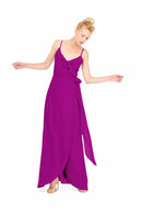 Joanna August Long Bridesmaid Dress Brianna Fuchsia Pink