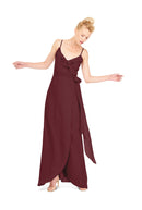 Joanna August Long Bridesmaid Dress Brianna Burgundy