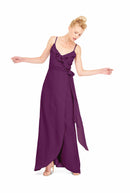 Joanna August Long Bridesmaid Dress Brianna Purple