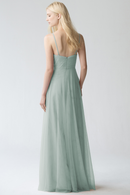 Jenny Yoo Long Bridesmaid Dress Brielle Appliqué