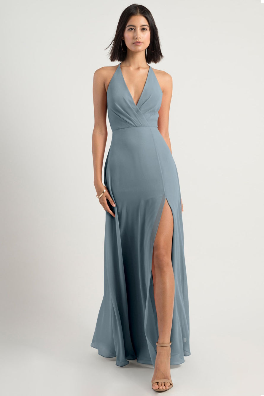 Jenny Yoo Bridesmaid Dress bryce_mayan_blue