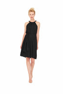 Black Joanna August Short Bridesmaid Dress Catherine