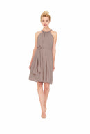 Brown Joanna August Short Bridesmaid Dress Catherine