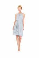 Whisper Blue Joanna August Short Bridesmaid Dress Catherine