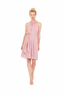 Joanna August Short Bridesmaid Dress Catherine Pink