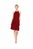 Merlot Joanna August Short Bridesmaid Dress Catherine