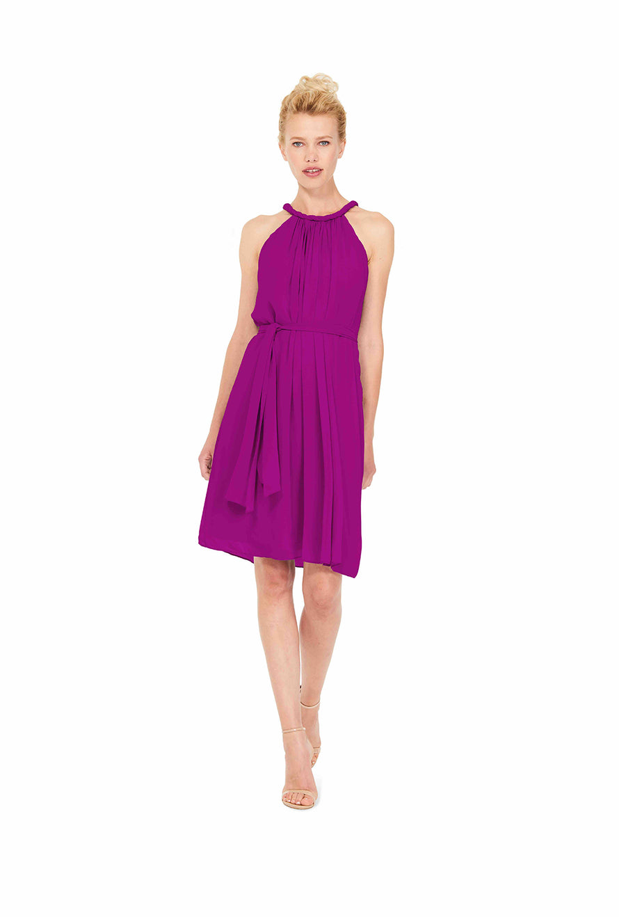 Fuchsia Pink Joanna August Short Bridesmaid Dress Catherine