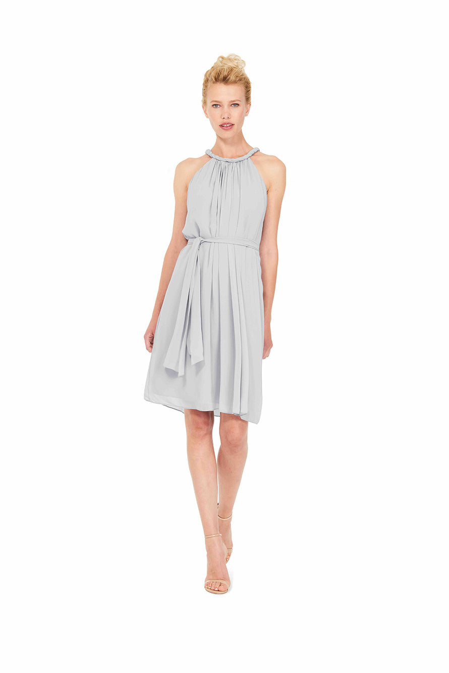 Silver Joanna August Short Bridesmaid Dress Catherine