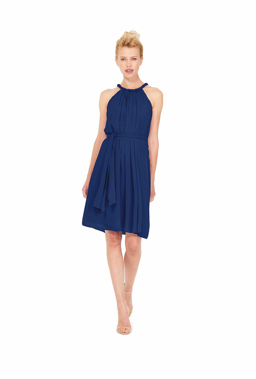 Navy Blue Joanna August Short Bridesmaid Dress Catherine