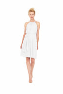 Joanna August Short Bridesmaid Dress Catherine White