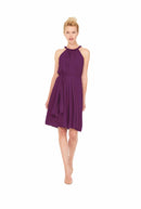 Purple Joanna August Short Bridesmaid Dress Catherine