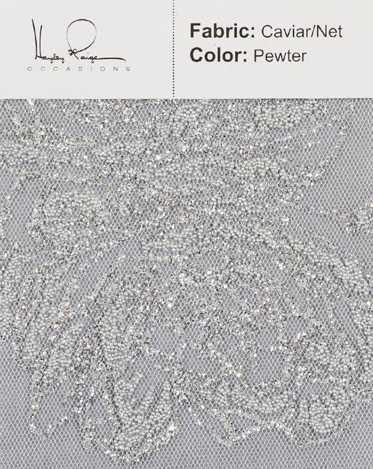 pewter-color-caviar-net-fabric
