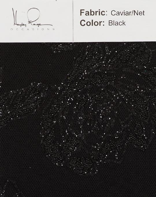 black-color-caviar-net-fabric