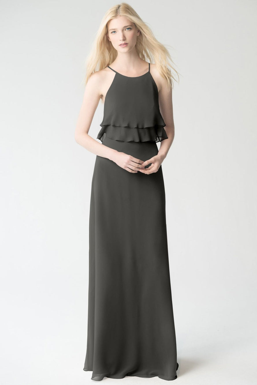 charcoal Jenny Yoo Bridesmaid Dress Charlie