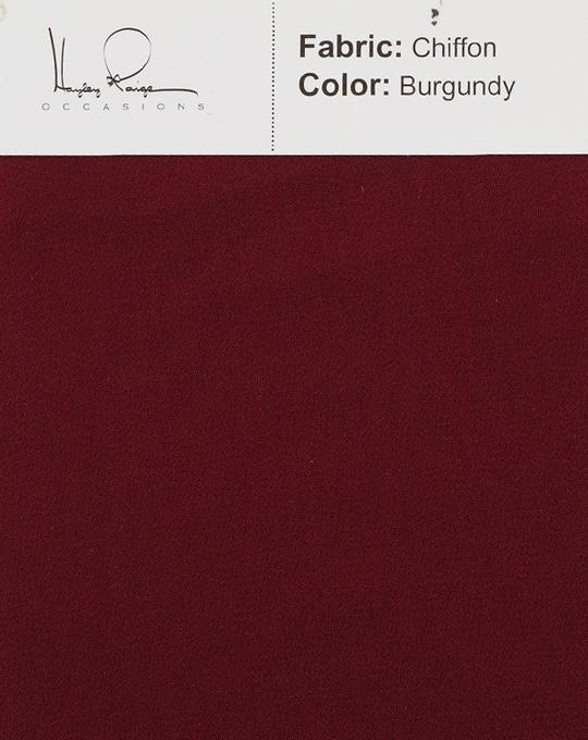 burgundy-color-chiffon-fabric