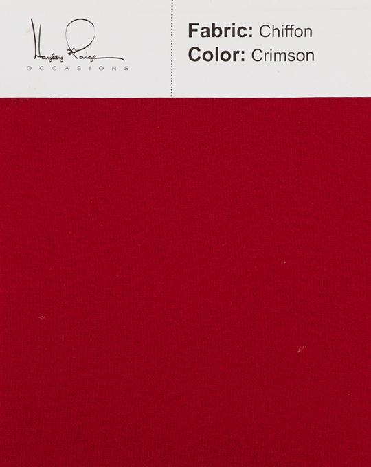 crimson-color-chiffon-fabric