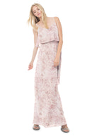Joanna August Long Bridesmaid Dress Dani Blush