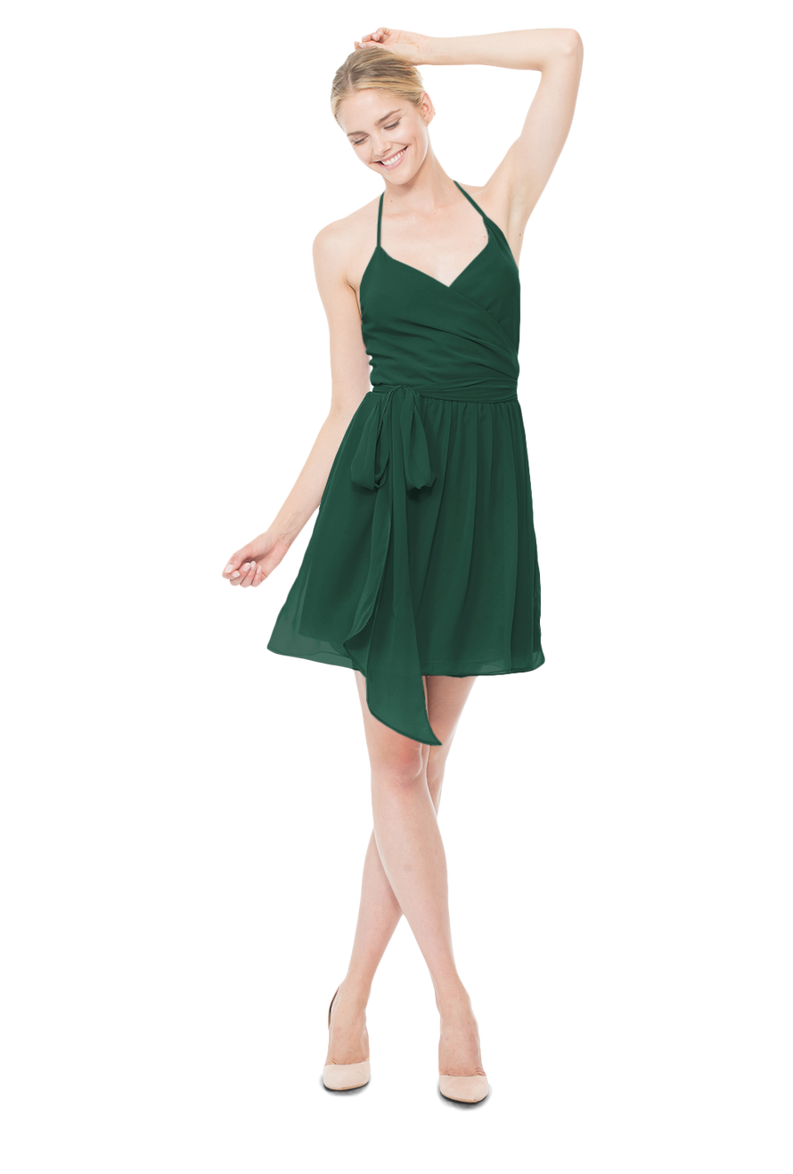 Emerald-cocktail-bridesmaid-dress