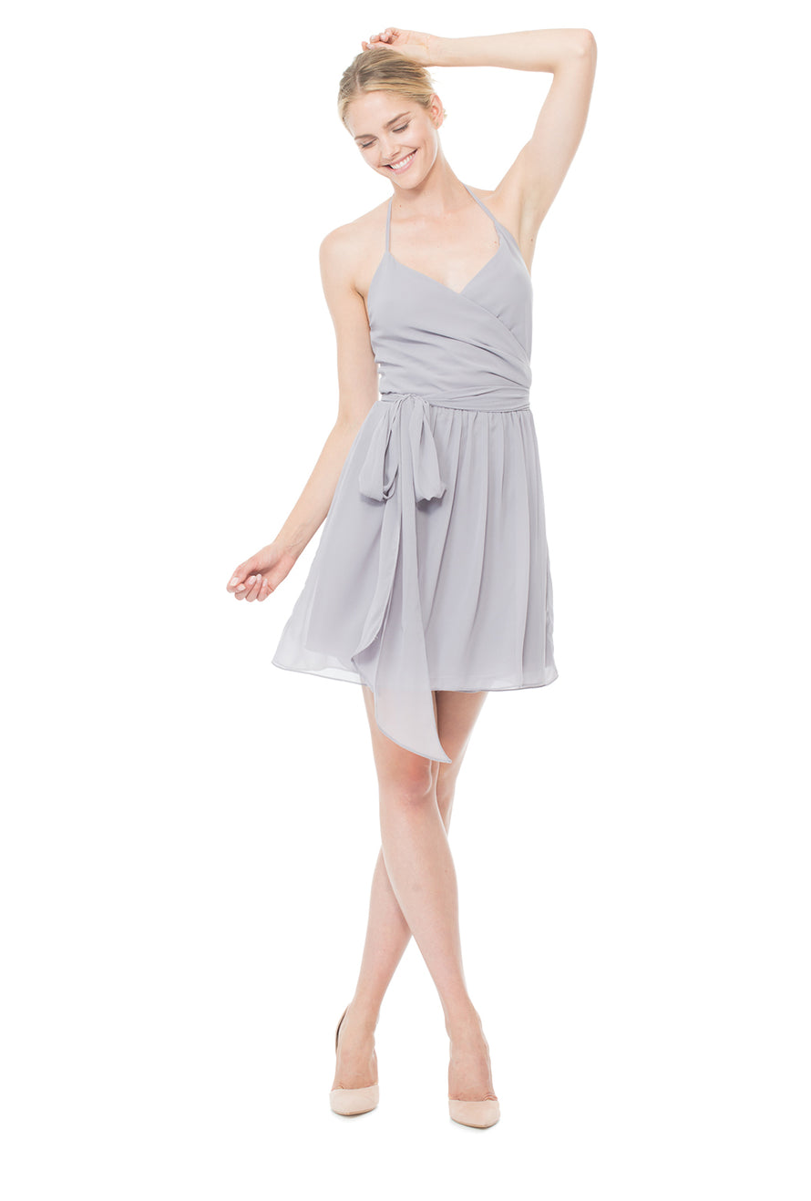 silver-cocktail-bridesmaid-dress