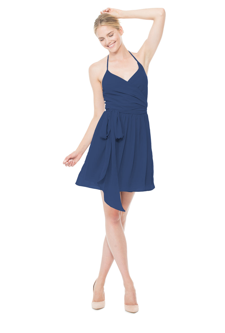 navy-blue-cocktail-bridesmaid-dress