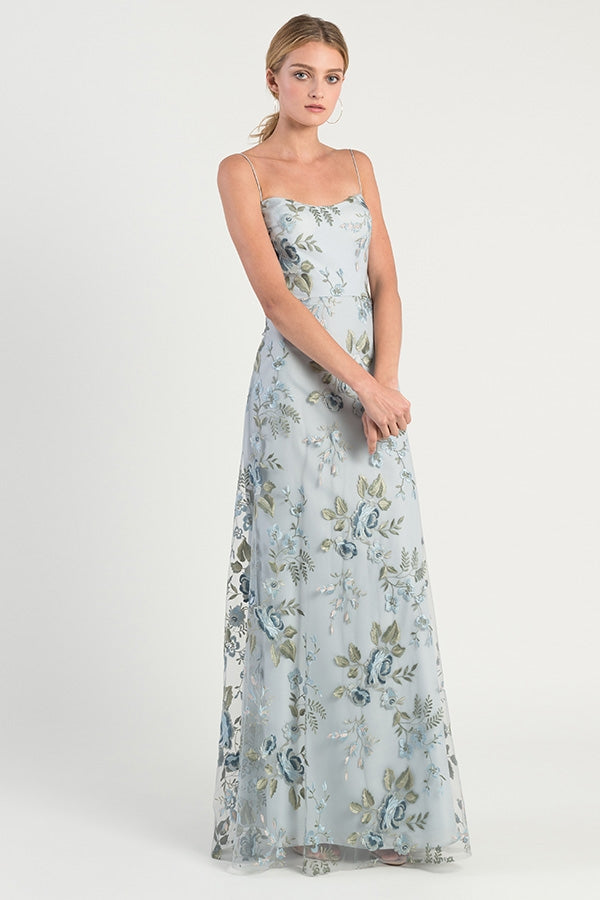 Jenny Yoo Long Bridesmaid Dress Drew Print