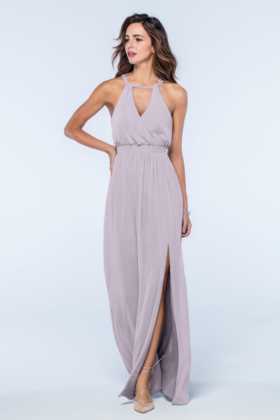 Watters Dress Fleurette dusty_lilac