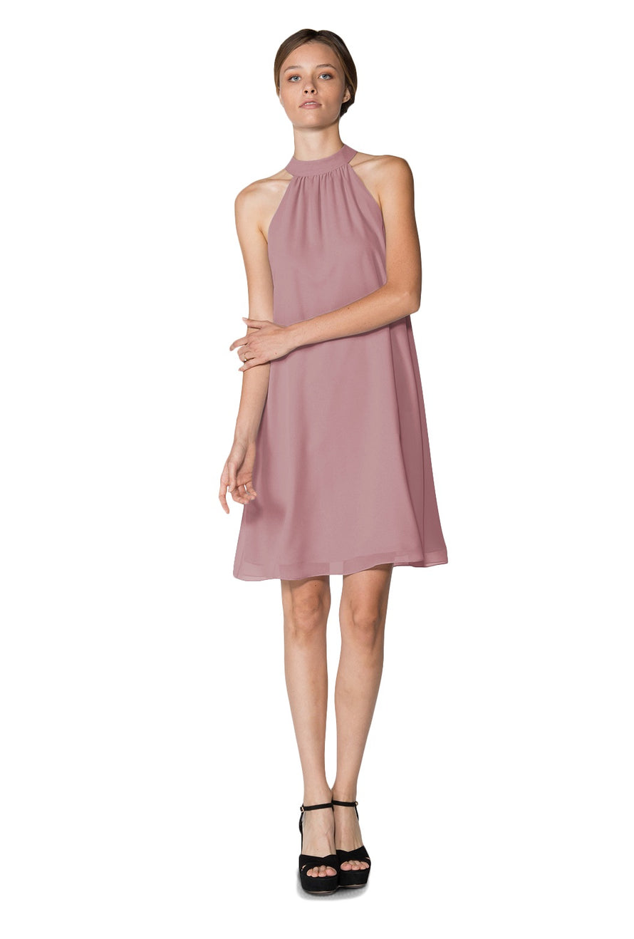Dusty Rose Short Cocktail Dress