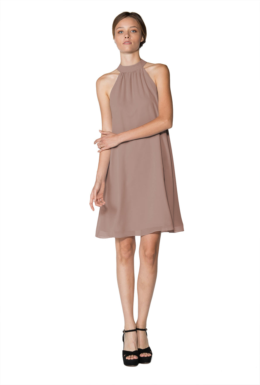 Brown Short Cocktail Dress