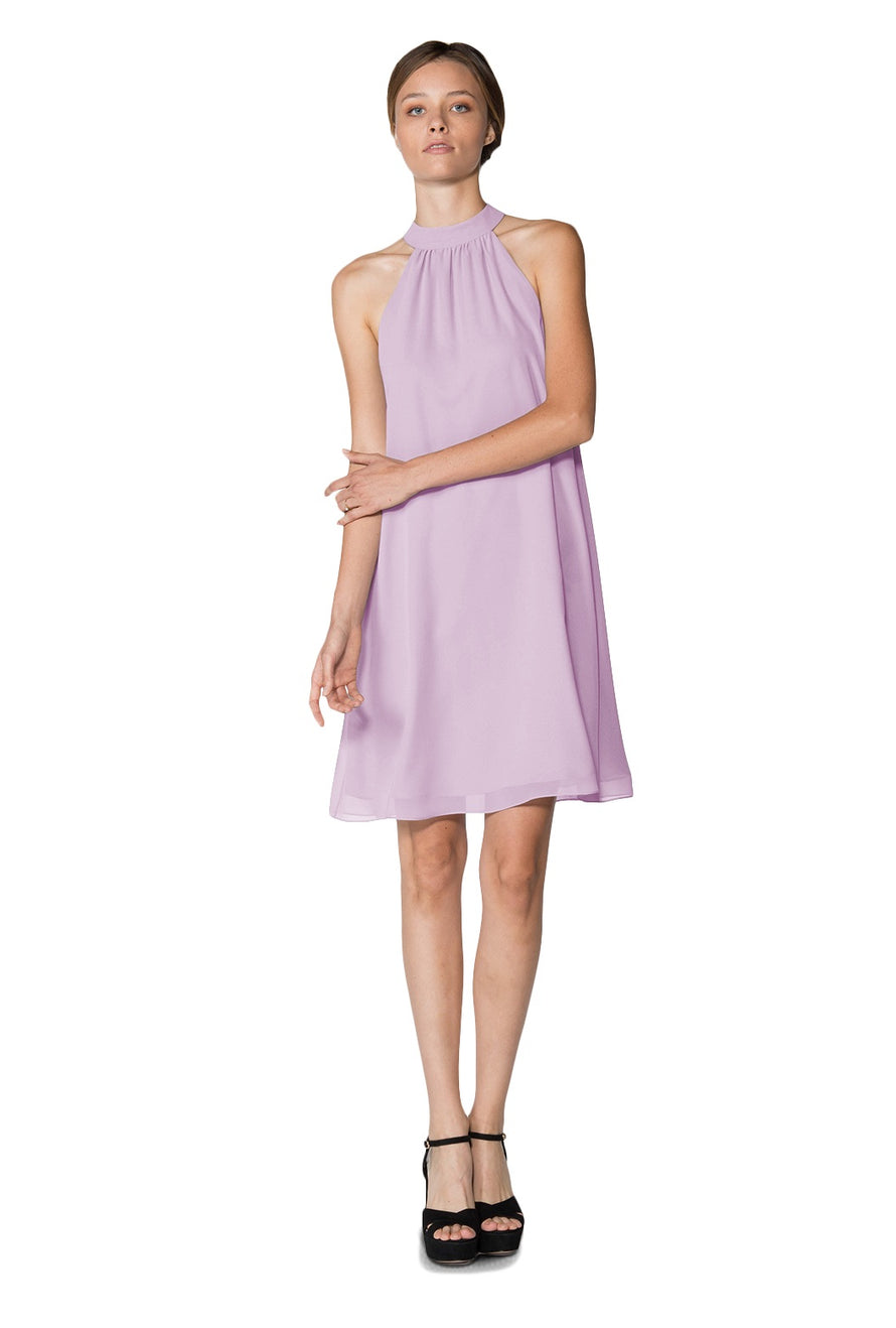 Lavender Short Cocktail Dress