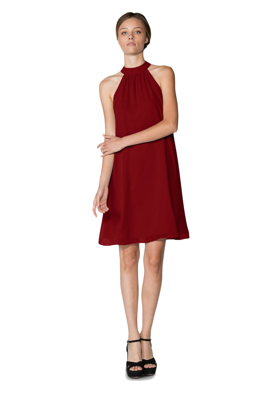Merlot Short Cocktail Dress