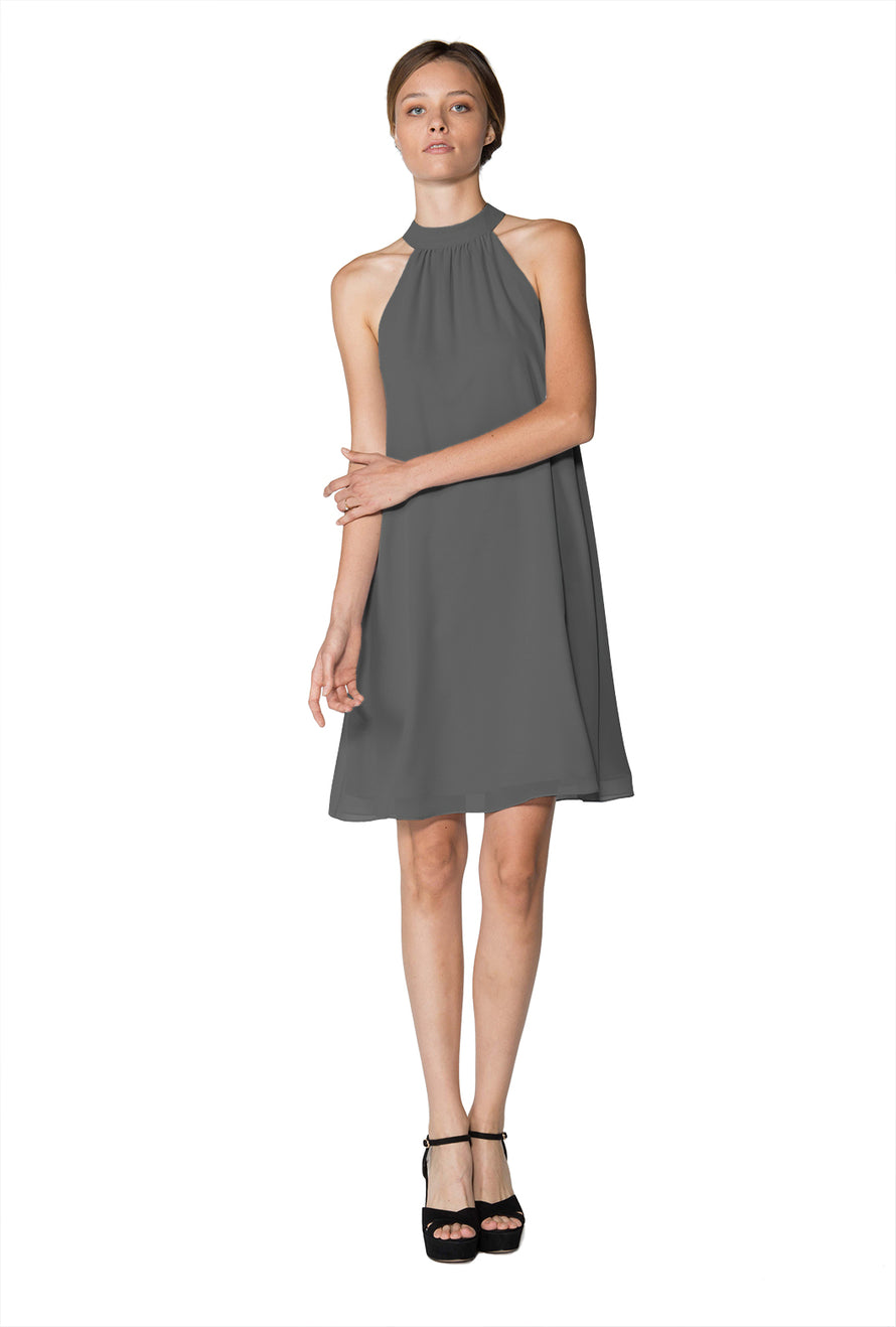 Grey Short Cocktail Dress