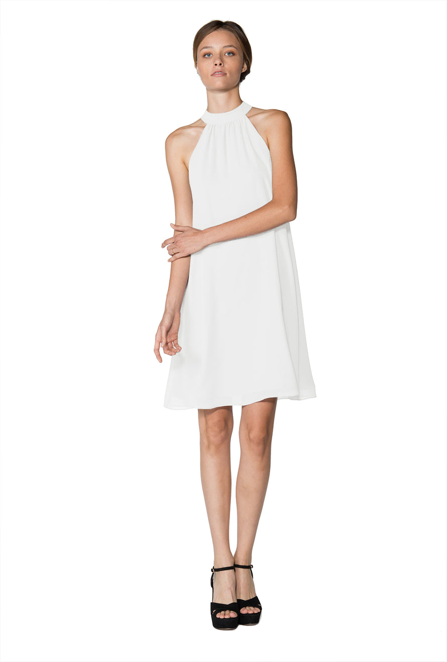 White Short Cocktail Dress