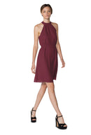 Burgundy Short Cocktail Dress